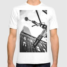 West 33rd street MEDIUM Mens Fitted Tee White