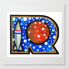 R is for Rock Canvas Print