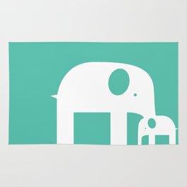 Blue Elephants Rug