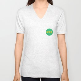 year3000 - Yellow/Green Logo Unisex V-Neck