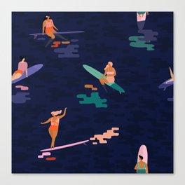 Surf goddes Canvas Print