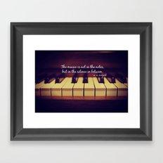 Mozart Music Framed Art Print