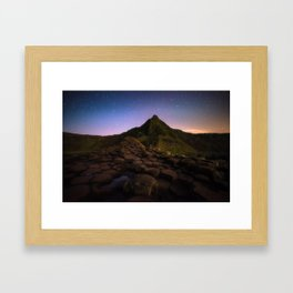 The Giants Causeway with the stars   Print (RR 269) Framed Art Print