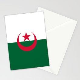 Flag of algeria -algerian,algiers,camus,chaabi,oran,constantine,Annaba. Stationery Cards