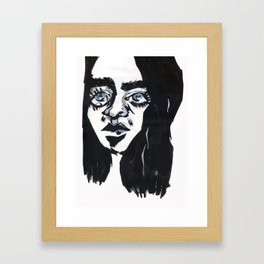 Staring into the void Framed Art Print