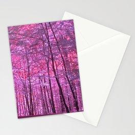 purple forest V Stationery Cards