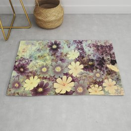 Cosmos and textures Rug