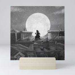 Rooftoppers - mono Mini Art Print