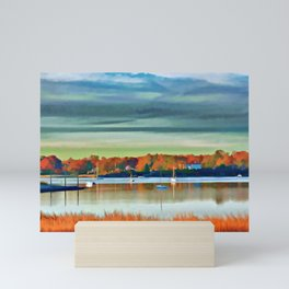 Colors of Autumn By the Water Mini Art Print