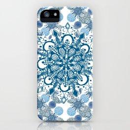 Blue Rhapsody Patterned Mandalas iPhone Case