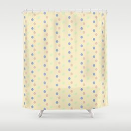 Colored Easter Eggs Pattern Easter Gift Ideas #easterdecor Shower Curtain