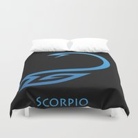 scorpio Duvet Covers featuring Scorpio by Groovyal