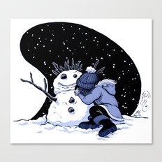 Sad Snow Canvas Print