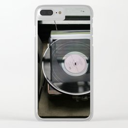 On Vinyl Clear iPhone Case