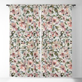 Peonies Blackout Curtain