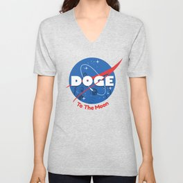 Nasa Doge Unisex V-Neck
