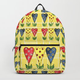 Hearts in Primary Colors Backpack
