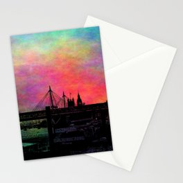 Psychedelic Thames skyline Stationery Cards