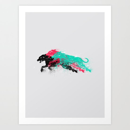 Dogs in action Art Print