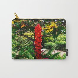 Alpinia purpurata – Red Ginger Flower, Nature in Bogota, Colombia Carry-All Pouch