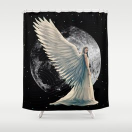 The Moon Angel Shower Curtain
