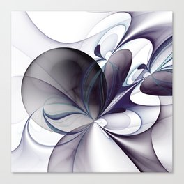 Easiness, Abstract Modern Fractal Art Canvas Print