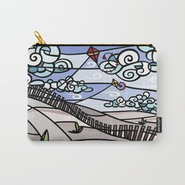 Flying Kites on the Beach Carry-All Pouch