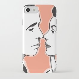Old-Fashioned Kiss iPhone Case