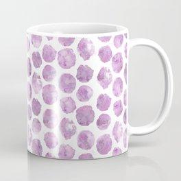 Light Pink Peony Polka Dots Coffee Mug