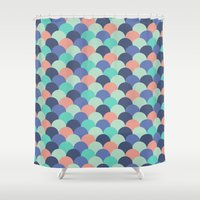 scales Shower Curtains featuring Scales by forhumourandhope