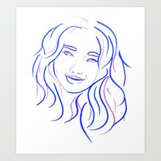 Blue Portrait Art Print