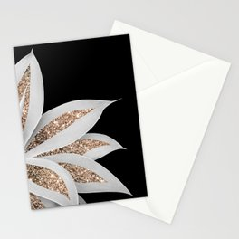 Agave Finesse Glitter Glam #6 #tropical #decor #art #society6 Stationery Cards