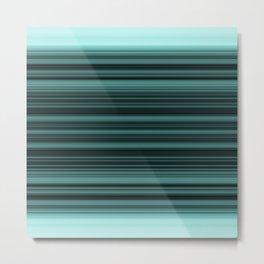 elegant stripes in teal and mint Metal Print