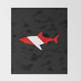 Diving Flag: Shark Throw Blanket