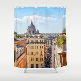 ROME the Streets:  Rooftop View of Rome, Italy Shower Curtain