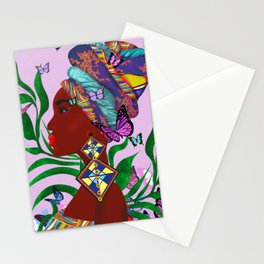 African woman art.Afro art.Home decor Stationery Cards