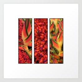 Hawai'ian Florals No.1 Art Print