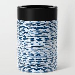Glitch Waves - Classic Blue Can Cooler