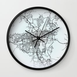 Reno NV USA White City Map Wall Clock