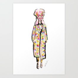 Love Runway Girl Art Print