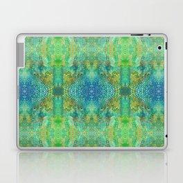 Green Watercolor Leopard Print Pattern - Animal Print Design Laptop & iPad Skin