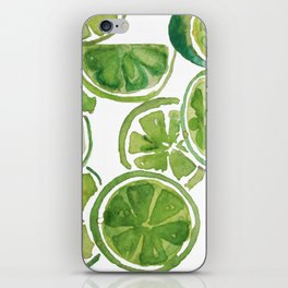 Watercolor LIMES iPhone Skin