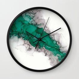 Study in Green Wall Clock