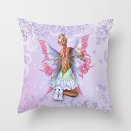 Make a Wish Fairy Throw Pillow