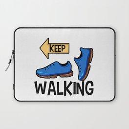 Keep Walking Yellow Sign Pilgrim Buen Camino Present gift Laptop Sleeve