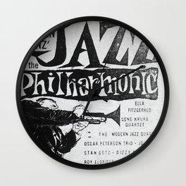 Vintage Jazz Poster, 1955 Wall Clock
