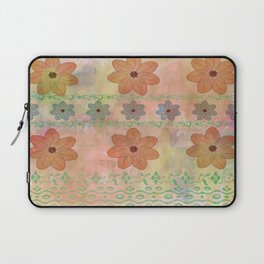 Orange floral pattern Laptop Sleeve