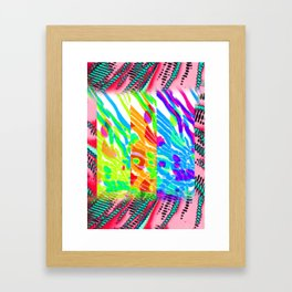 Color and Texture Experiment Framed Art Print