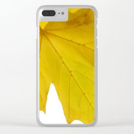 Yellow maple leaf. Clear iPhone Case