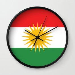 Kurdistan flag country flag Wall Clock